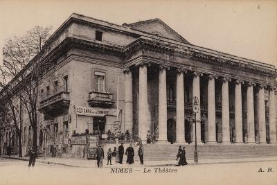 Postcard Depicting the Theatre in Nimes
