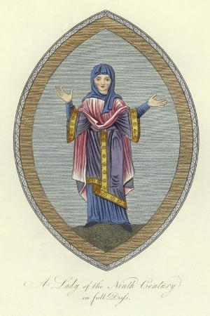 A Lady of the 9th Century in Full Dress