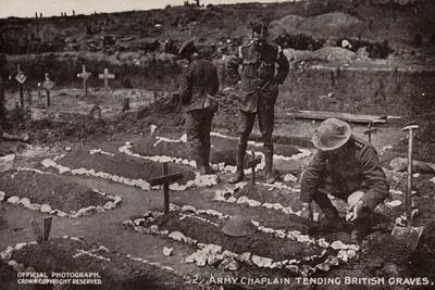Army Chaplain Tending British Graves, World War I