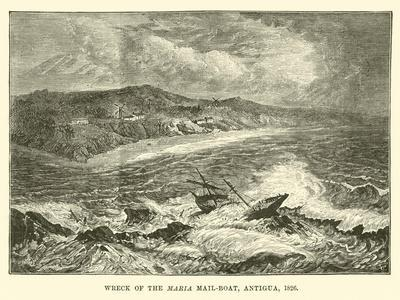 Wreck of the Maria Mail-Boat, Antigua, 1826