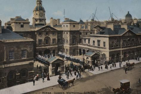 View of Horse Guards and Whitehall Fine Art Print//Poster