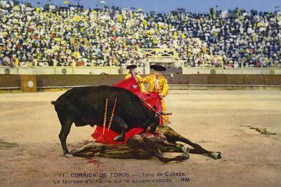 Bull Fight in Spain, Early 20th Century