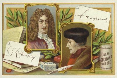 Gottfried Wilhelm Leibniz and Desiderius Erasmus