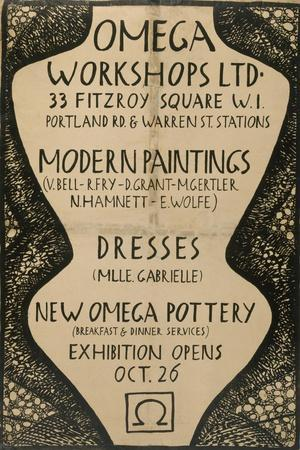 Graphic Advert for the Omega Workshops, 1920