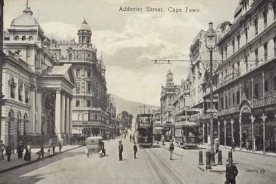 Postcard Depicting Adderley Street in Cape Town