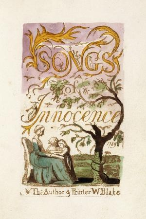 Title Page, from 'Songs of Innocence', 1789