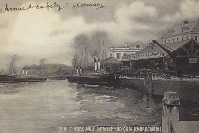 Postcard Depicting the Herbouville Wharf