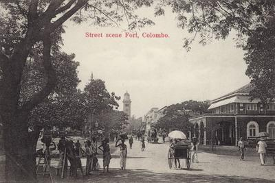 Street Scene in the Fort Area of Colombo