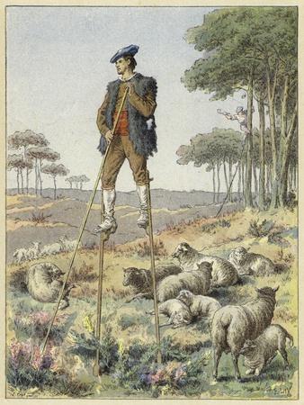 Shepherd on Stilts, Landes, France