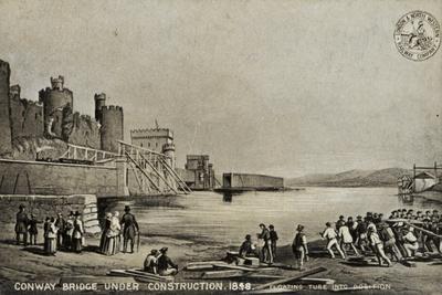Conway Bridge under Construction, 1848