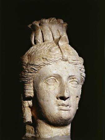 Limestone Head of Cleopatra I or II