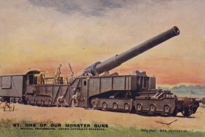 British Railway Gun, World War I
