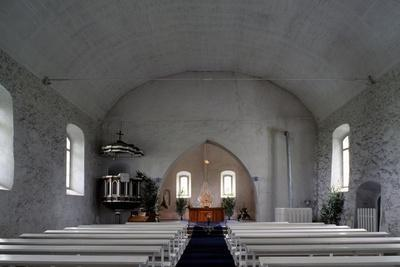 View of Interior of Oldest Latvian Church, Krimulda, Vidzeme, Latvia