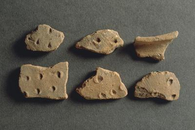 Fragments of Pottery, from Monte Bignone, Province of Imperia, Italy