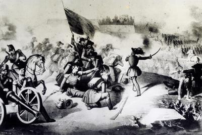 Rome, Combat at Villa Spada Against the French, June 30, 1849, Roman Republic, Italy
