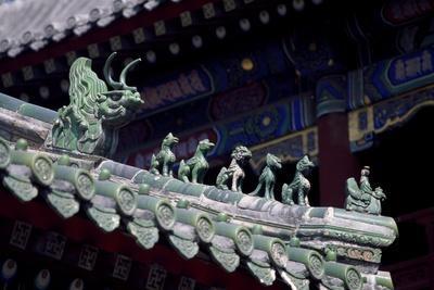 Detail of Lama Temple or Yong He Gong, Beijing, China