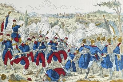Battle of Borny-Colombey, at Metz, Between Prussians and French, August 14, 1870