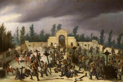 Episode from Battle of Solferino, June 24, 1859, Second War of Independence, Italy