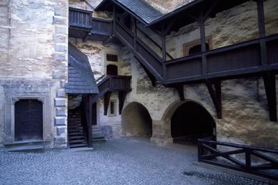 Courtyard of Orava Castle, Oravsky Podzamok, Zilina, Slovakia