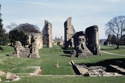 Ruins of Glastonbury Abbey, Somerset, England, United Kingdom