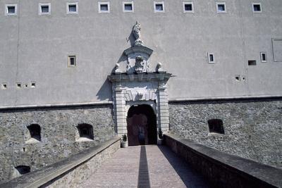 View of Cerveny Kamen Castle, Near Casta, Slovakia
