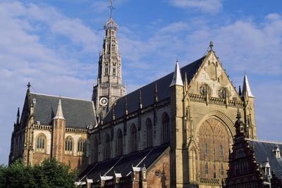 North Western Side of Saint Bavokerk Church or Grote Kerk, Haarlem, Netherlands
