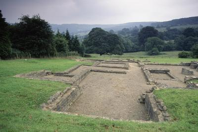 Ruins of the Great Witcombe Roman Villa, Gloucestershire, England, United Kingdom