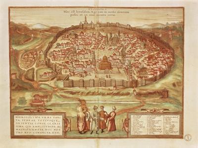 Jerusalem from Civitates Orbis Terrarum