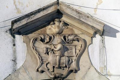 Noble Crest Above the Entrance Gate of a Building in Santa Clara Largo, Elvas, Portugal
