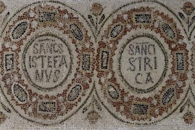 List of Martyrs, Mosaic from Monastery of Santo Stefano in Dermech, Tunisia