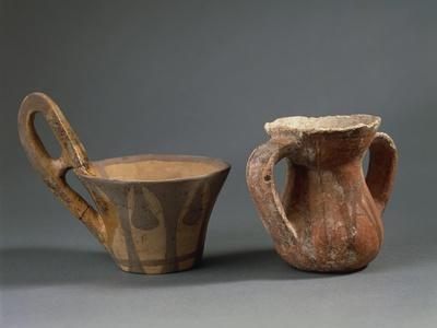 Pottery Vessels with Geometric Decorations, from Sicily Region, Italy
