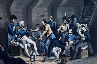 The Wounded Being Treated Below Deck During the Battle of the Nile in 1798