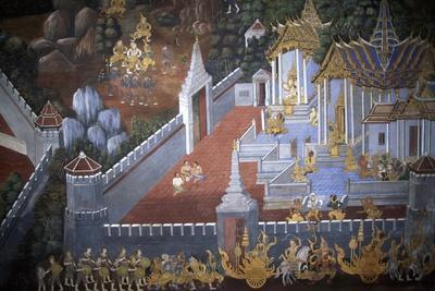 Thailand, Bangkok, Royal Palace, Mural Painting