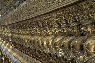 Thailand, Bangkok, Royal Palace, Detail of Decoration