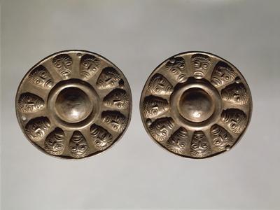 Embossed Silver Phaleras, Ornamental Disks Used on Horse Gear