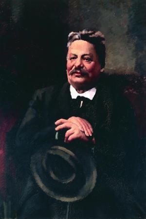 Portrait of Italian Poet and University Professor of Literature Giovanni Pascoli