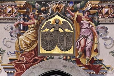 Decoration of Facade of Old Town Hall in Lindau, Detail, Germany
