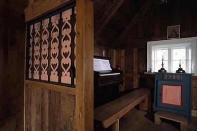 View of Interior of Nupsstadur Chapel, 1650, Vestur-Skaftafellssysla, Iceland