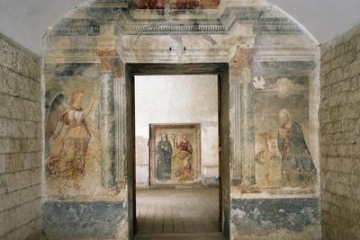 Interior of Church of Monastery of St Scholastica, Subiaco, Italy, 6th Century