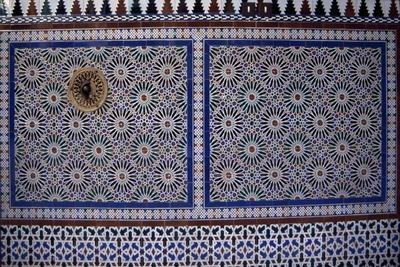 Mudejar Style Glazed Tiles from Las Tomasas Palace, Ecija, Andalusia, Spain