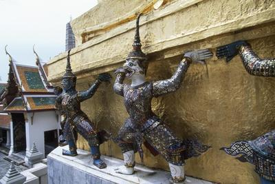 Detail of Decorations and of Statues of Royal Palace in Bangkok, Thailand, 18th-19th Century