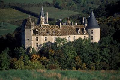 Chateau De La Rochepot, Burgundy, France, 13th-19th Century