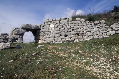 Saracen's Gate in City Walls of Segni, Lazio, Italy