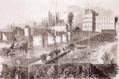 Last Federal Troops Attempting to Cross Asnieres Bridge, April 17, 1871