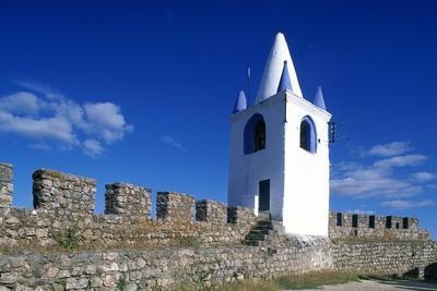 Detail of the Wall and Sentry Tower of Arraiolos Castle, 16th Century, Portugal