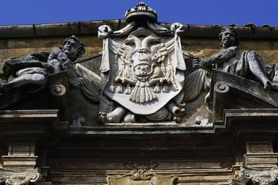 Coat of Arms Above Entrance, Agrigento, Sicily, Italy