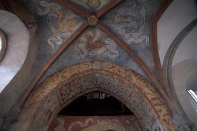 Decoration from Cervena Lhota Castle, Near Jindrichuv Hradec, Bohemia. Czech Republic.