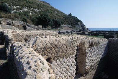 Opus Incertum Wall, Villa of Tiberius, Sperlonga, Lazio, Italy BC-1st Century AD