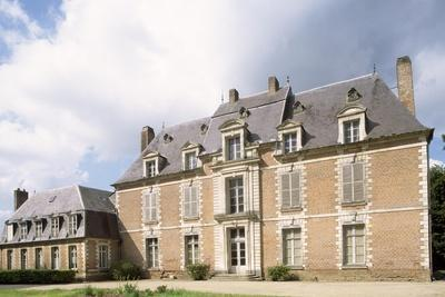 Chateau De Quevauvillers Facade, Picardy. France, 17th-18th Century