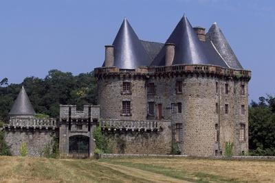 View of Chateau De Landal, Broualan, Brittany, France 15th-19th Century